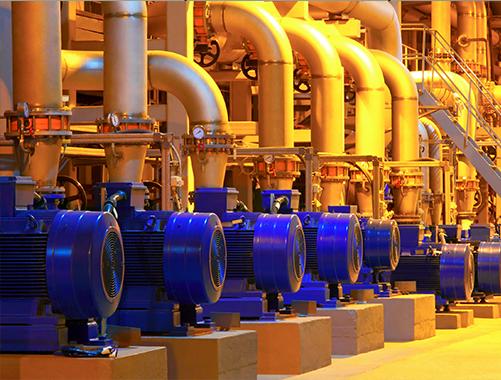 pumps in factory